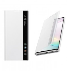Samsung Clear View Cover White For Note 10 Plus