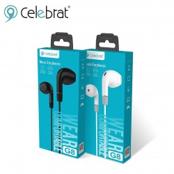 Celebrate Featherlight G8 Wired Earphone with Mic (Black)