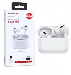 Borofone BE38In-Ear Bluetooth Earphones With Charging Case White
