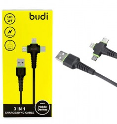 Budi 3 In 1 Synchronizing Charger Cable M8J150
