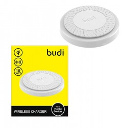 Budi fast WIRELESS charger - For Apple & Android Products - White - POWERFU