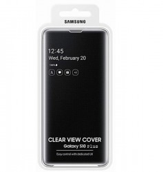 Samsung Clear View Cover For Galaxy S10 Plus -Black