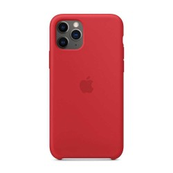 iPhone 11 Pro Max Silicone Case - Red