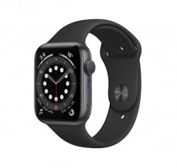 Apple Watch Series 6 GPS - 44 mm Space Grey Aluminum Case with Black Sport Band