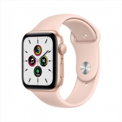 Apple Watch SE GPS 44mm Gold Aluminum Case with Pink Sand Sport Band