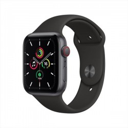 Apple Watch SE GPS+Cellular 44mm Space Grey Aluminum Case with Black Sport Band