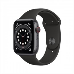 Apple Watch Series 6 GPS+Cellular 44mm Space Grey Aluminum Case with Black Sport Band